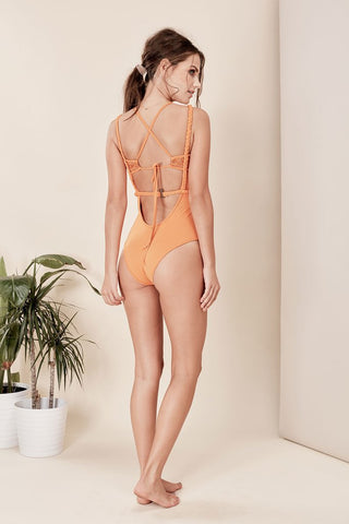 Samba Braided One Piece in Burnt Orange
