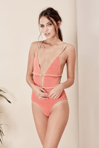 Capri Scrunchy One Piece in Coral
