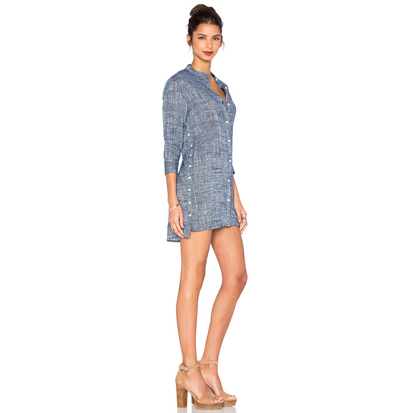 Ravie Shirt Dress in Midnight