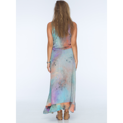 Snap Tie Dye Voile Scoop Tank High Low Dress in Impression Tie Dye