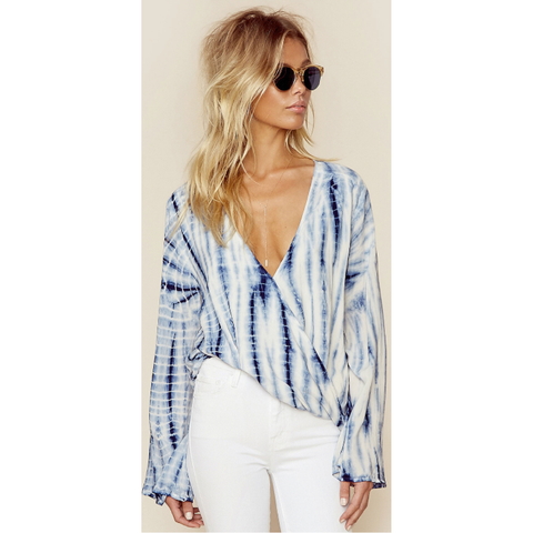 Hayley Top in Boho Stripe