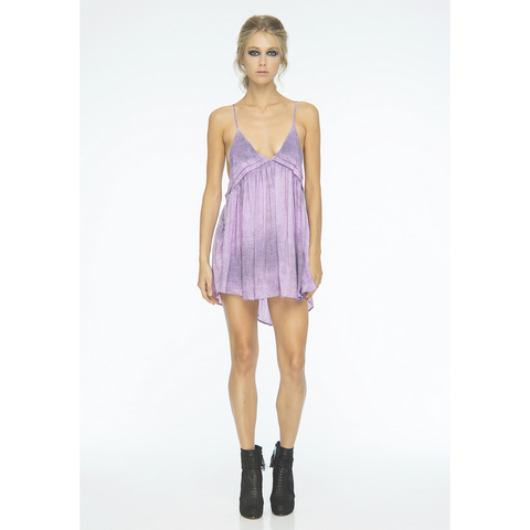 Saffron Printed Mini Dress in Lilac Crocodile (FINAL SALE)