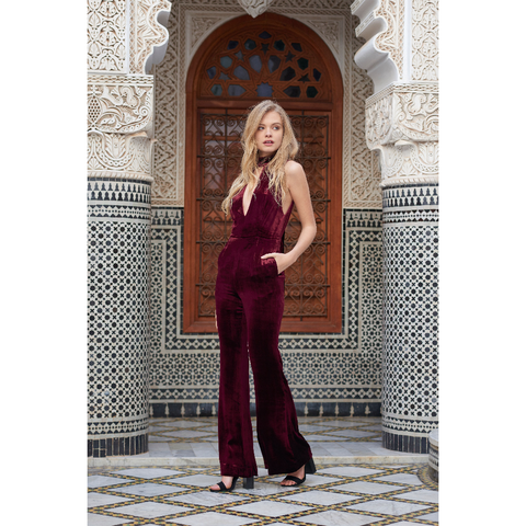 Atlas Jumpsuit in Oxblood