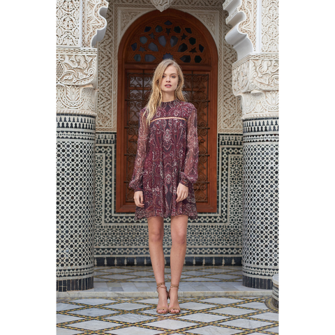 Labyrinth Paisley Mini Dress