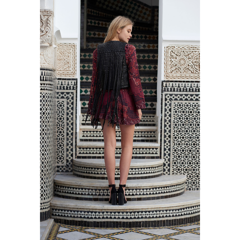 Kilim Mini Dress in Rug Print