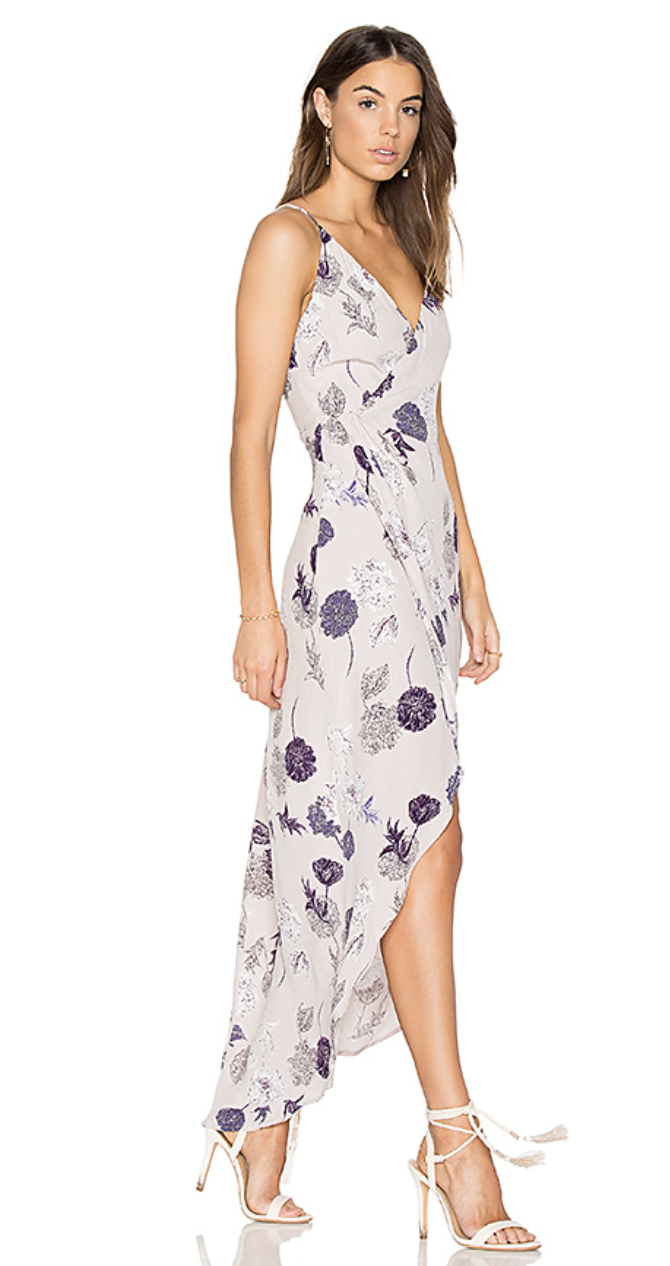 Penelope Dress in Grey Multi Floral