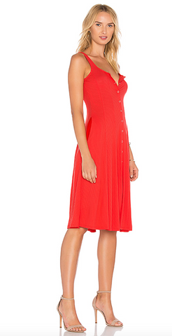 Andrews Dress in Red Orange