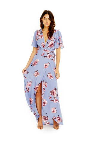 Selma Dress in Periwinkle Floral