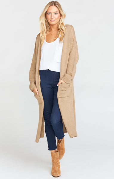Bader Cardigan in Wheat Knit