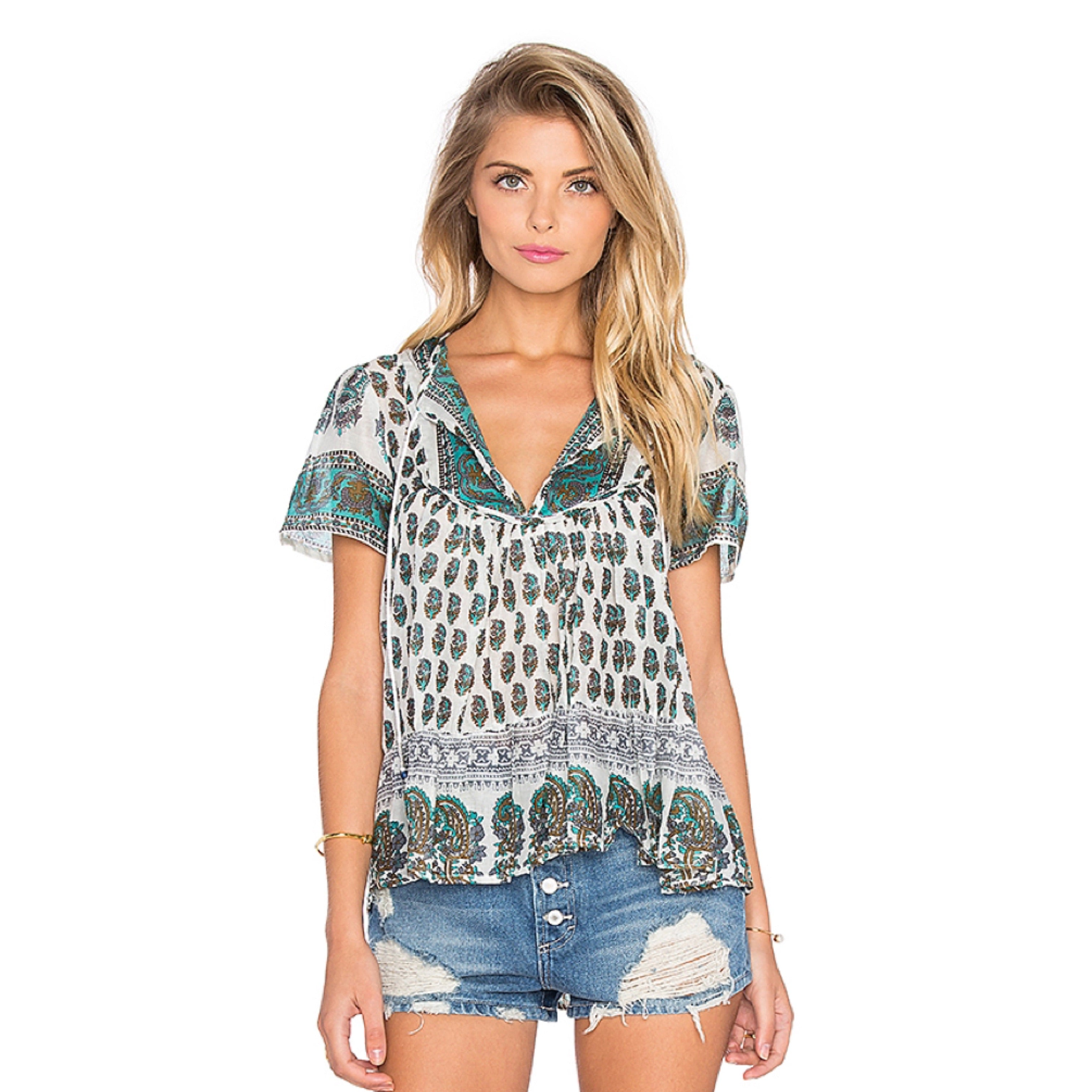 Nomad Dream Blouse in Green