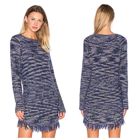 Dakota Short Sweater Dress in Multi