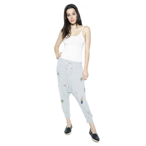 Vita Allover Glam Drop Crotch Sweatpant in Heather