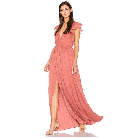 Getaway Maxi Dress in Moss Coral