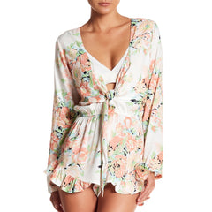 Garden Party Tie Romper in Eggshell