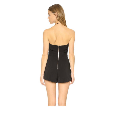 Night Rider Romper in Noir