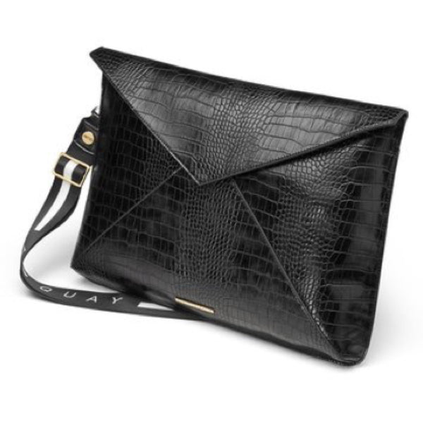 Black Crocodile Laptop Bag