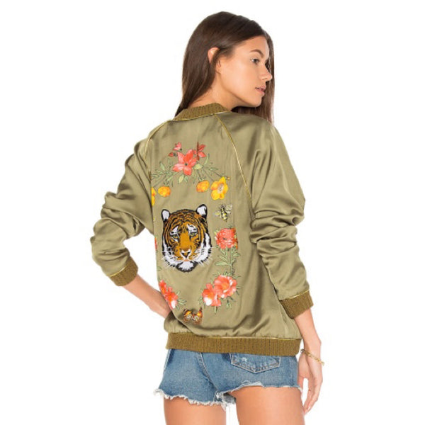 Paris Bomber Jacket in Army