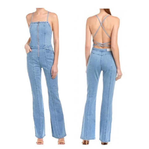 Stevie Overall Jumpsuit in Vintage Blue Denim