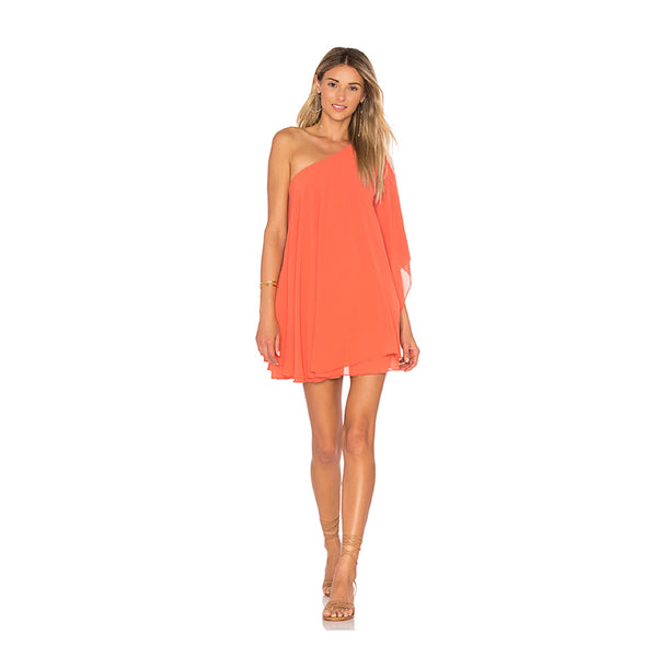 Zsa Zsa Dress in Papaya Chiffon
