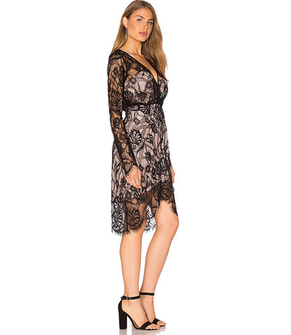 Sofala Long Sleeve Dress in Noir