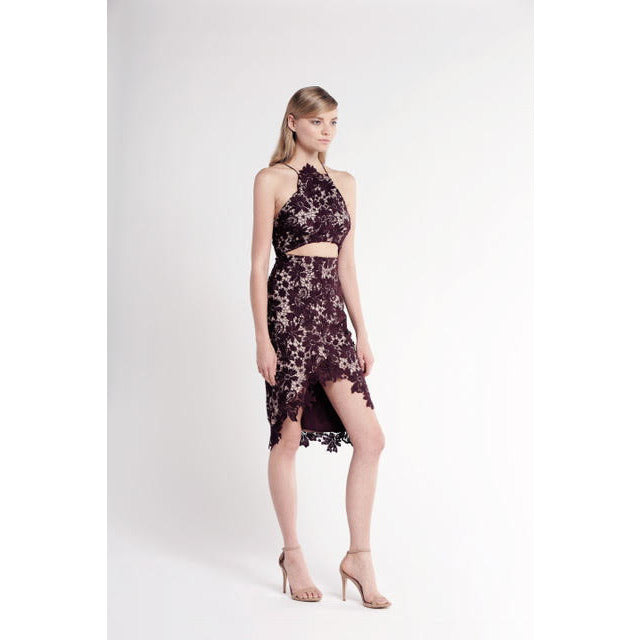 Rosale Midi Dress in Plum