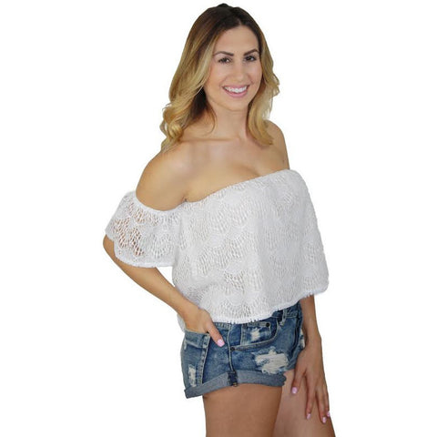 Batik Tube Top in Antique Lace