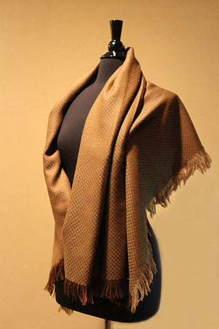 Ultra Royal Fawn Alpaca Shawl
