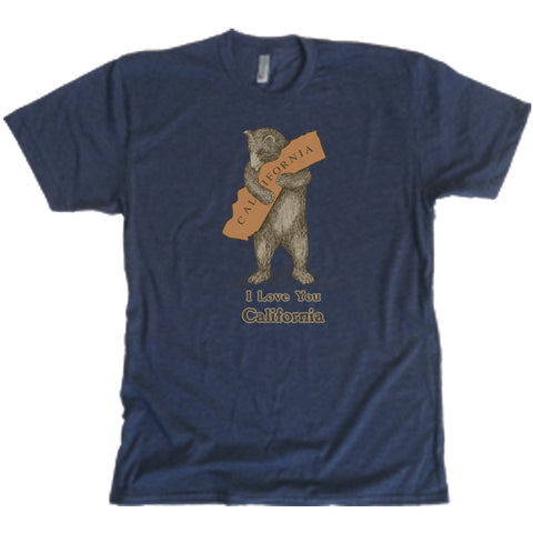 T-Shirt - Bear Hug, Midnight Blue