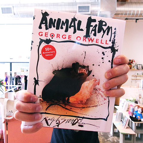 Book - Animal Farm by George Orwell, 50th Anniversary Edition Illustrated by Ralph Steadman
