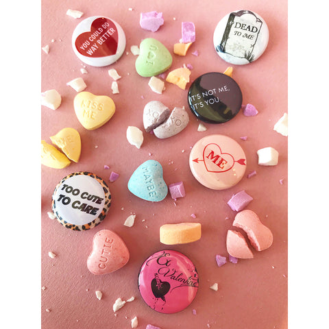 Button Pack - Anti-Valentine's Day, 6 Pack