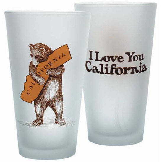 Pint Glass - CA Bear Hug