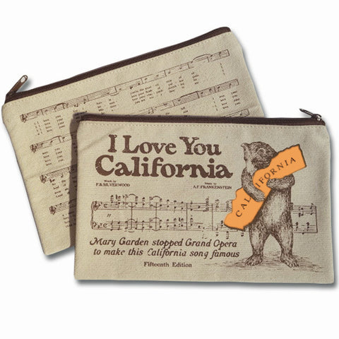 Zipper Pouch - CA Bear Hug