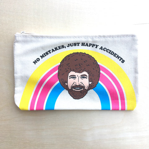 Zipper Pouch - Bob Ross, No Mistakes