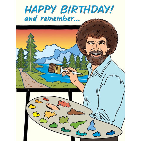 Card - Bob Ross Birthday