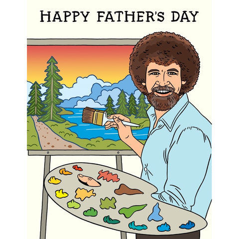 Card - Bob Ross, Father's Day
