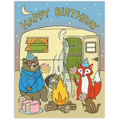 Card - Campfire Happy Birthday