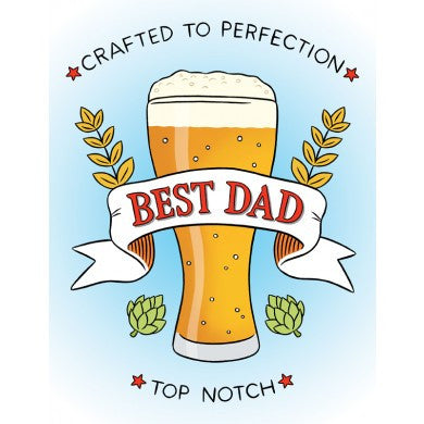 Card - Best Dad, Crafted To Perfection