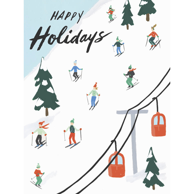 Card - Holiday Skiers