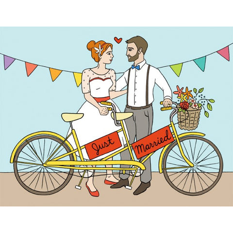 Card - Just Married Tandem Bike
