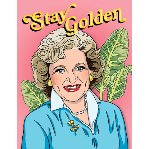 Card - Stay Golden