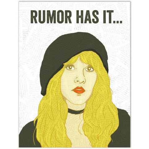 Card - Stevie Nicks, Rumor Has It