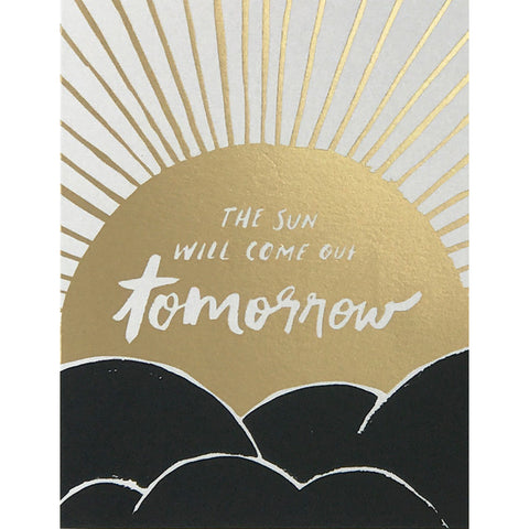 Card - The Sun Will Come Out Tomorrow
