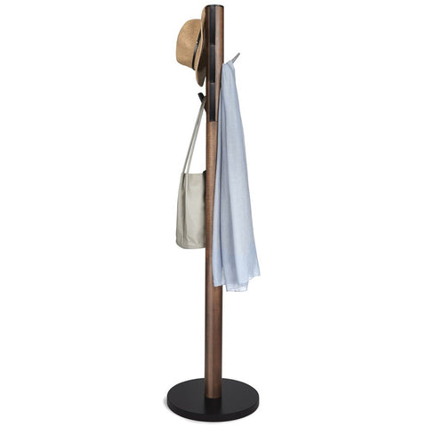 Coat Rack - Flapper, Black/Walnut