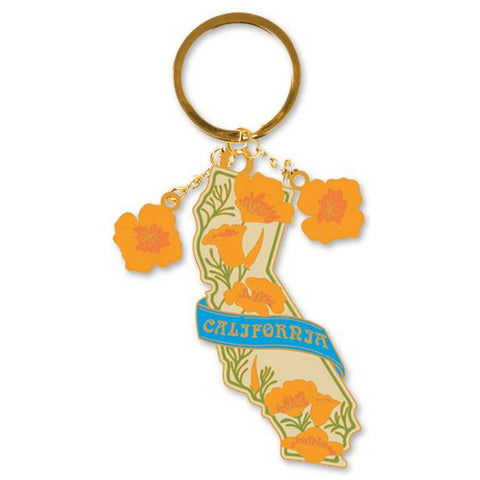 Keychain - California Poppy