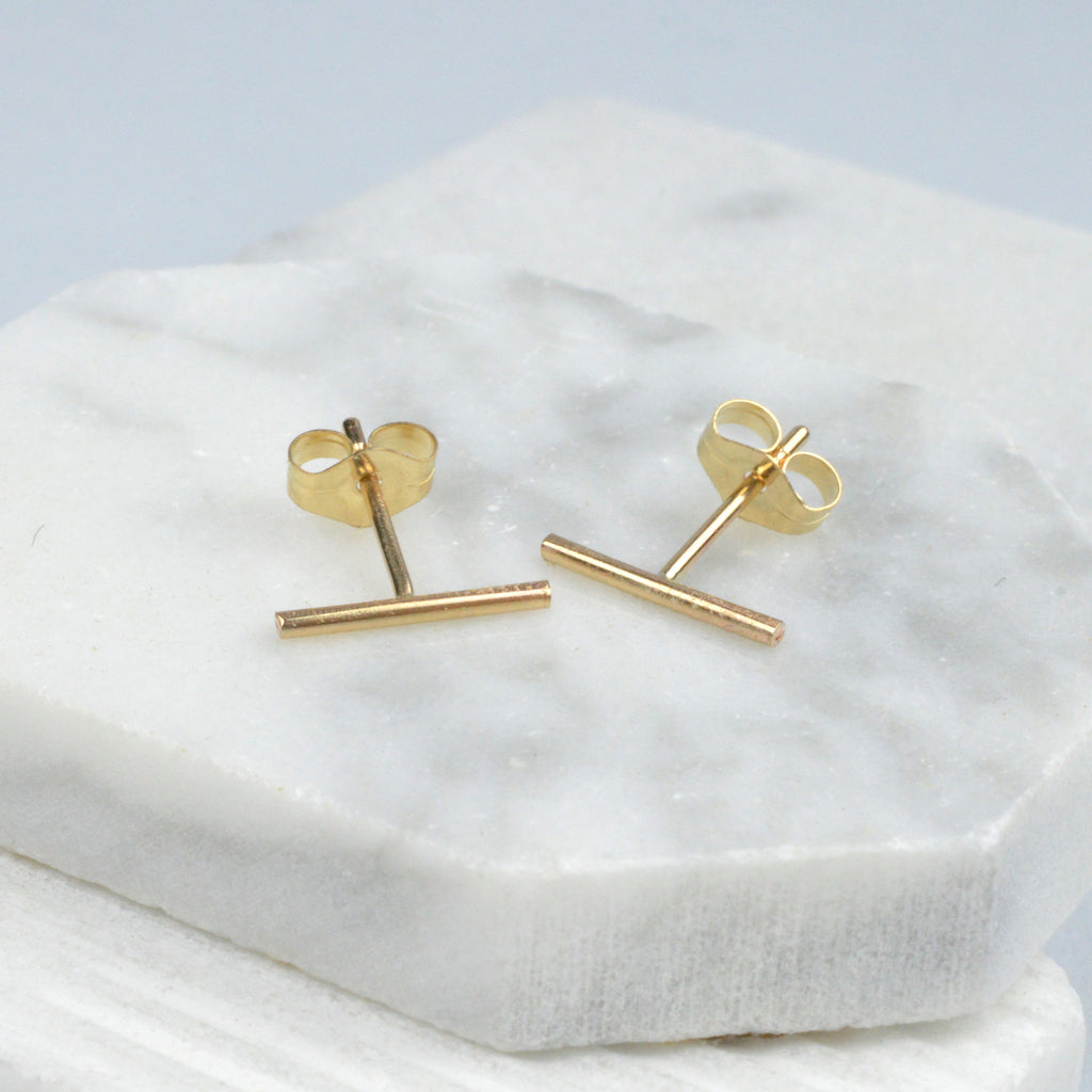 Jewelry - Earrings, Line Studs Gold