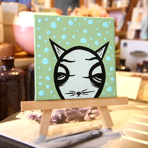Jeff Claassen - Mini Painting, Carl The Cat