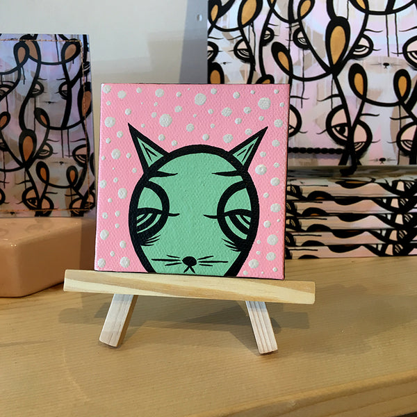 Jeff Claassen - Mini Painting, Carla The Kitty
