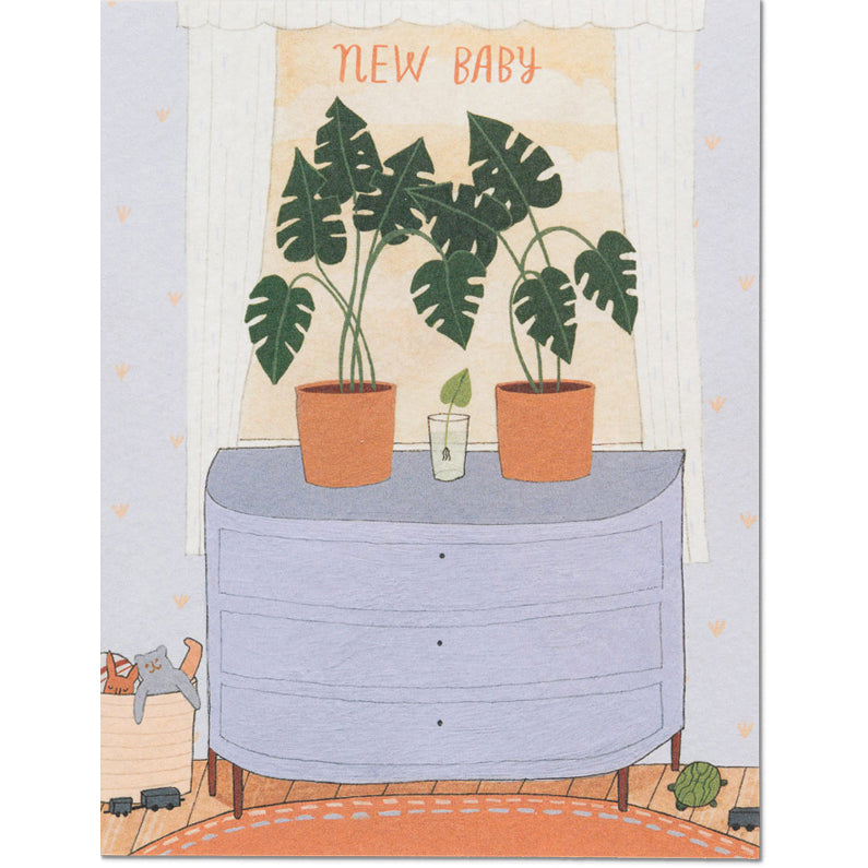 Card - Nursery Plants Baby