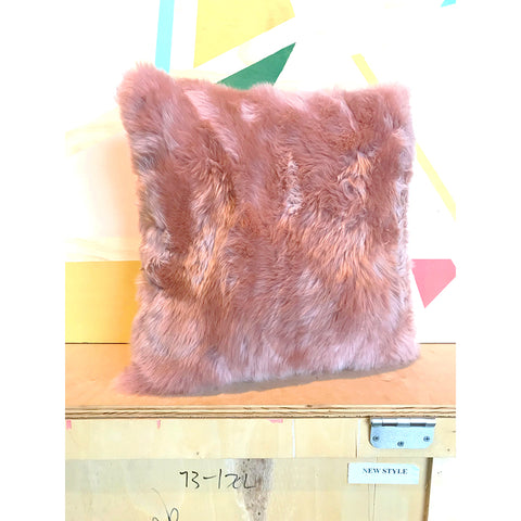 Pillow - Sheepskin, Pink Pearl