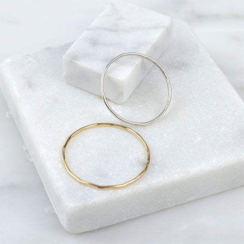 Jewelry - Stacking Ring, Hammered